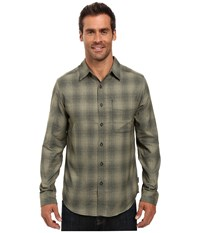 Royal Robbins Performance Flannel Ombre Long Sleeve Shirt Cypress Men's Clothing Green
