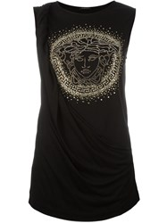 Versace Studded Medusa Tank Top Black