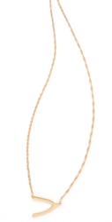 Jennifer Zeuner Jewelry Mini Wishbone Necklace Vermeil
