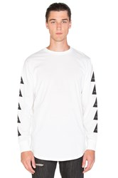 Black Scale Noir L S T Shirt White