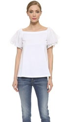 N 21 Off Shoulder Shirt White