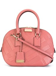 Burberry Embossed Check 'Orchard' Bag Pink And Purple