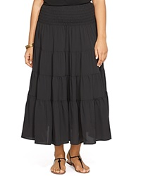 Lauren Ralph Lauren Plus Tiered Maxi Skirt Black