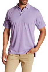 Peter Millar Melange Contemporary Fit Polo Purple