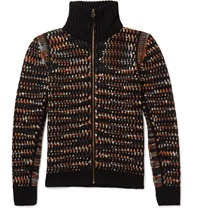 Missoni Textured Zip Up Cashmere Cardigan Black