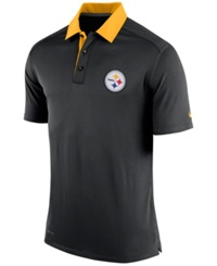 Nike Men's Pittsburgh Steelers Elite Coaches Polo Black Gold