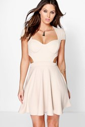 Brooke Sweetheart Bodice Cut Out Skater Dress