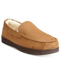 Club Room Men's Faux Suede Moccasin Slippers Only At Macy's Tan