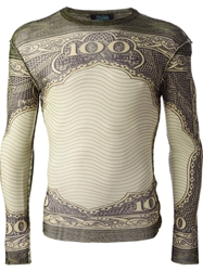 Jean Paul Gaultier Vault Tattoo Long Sleeved Top Green