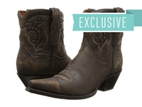 Dan Post Flat Iron Studs Brown Vintage Cowboy Boots