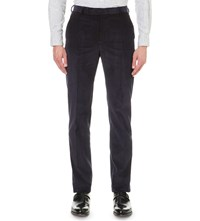 Richard James Slim Fit Straight Corduory Trousers Navy