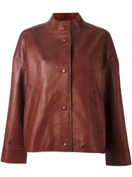 Aalto Buttoned Jacket Brown