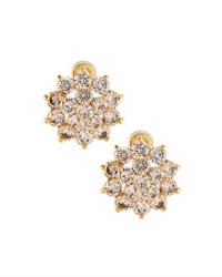 Fragments For Neiman Marcus Cz Flower Stud Earrings Gold
