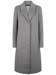 Jaeger Wool A Line Coat Grey Melange