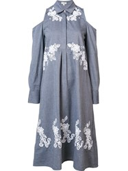 Suno Cut Out Shirt Dress Grey