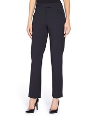 Tahari By Arthur S. Levine Petite Slim Fit Dress Pants Navy
