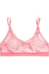 Stella Mccartney Breast Cancer Awareness Stretch Lace Soft Cup Bra Pink