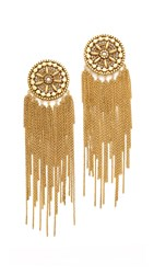 Erickson Beamon Brittany Statement Earrings Gold