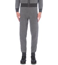 Corneliani Regular Fit Cashmere And Virgin Wool Blend Tracksuit Bottoms Mid Grey