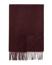 Bloomingdale's The Men's Store At Cashmere Solid Scarf Deep Wine