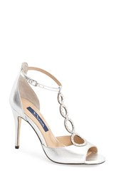 Women's Nina 'Cathy' Swarovski Evening Sandal 4' Heel