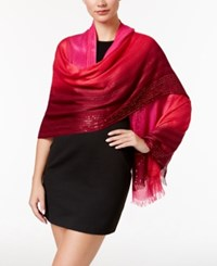 Echo Ombre Sequined Wrap Ruby