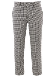 Undercover Checked Trousers Black