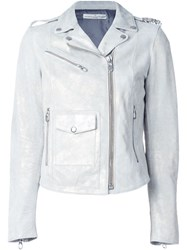 Golden Goose Deluxe Brand Classic Biker Jacket Nude And Neutrals