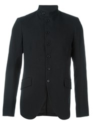 Ann Demeulemeester Band Collar Fitted Jacket Black