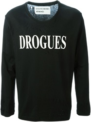 Enfants Riches Deprimes Drogues Print Longsleeved T Shirt Black