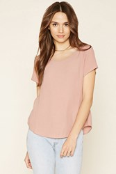 Forever 21 Curved Hem Top