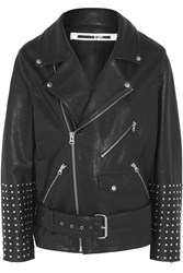 Mcq By Alexander Mcqueen Oversized Studded Textured Leather Biker Jacket