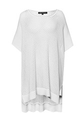 French Connection Fishermans Net Kimono Sleeve Jumper White