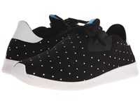 Native Embroidered Apollo Moc Jiffy Black Shell White Polka Dot Slip On Shoes