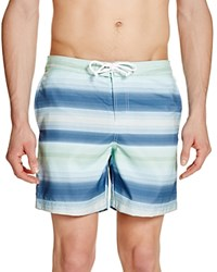 Original Penguin Volley Gradient Stripe Swim Trunks Dark Sapphire