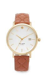 Kate Spade Quilted Metro Watch Brown