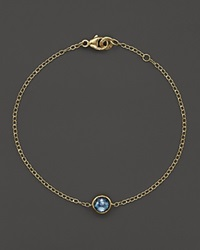 Ippolita 18K Gold Mini Lollipop Bracelet In London Blue Topaz Gold Blue