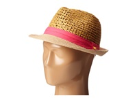 Steve Madden Two Weave Banded Fedora Fuchsia Fedora Hats Pink