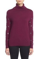Petite Women's Halogen Detailed Turtleneck Top