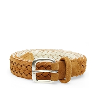 Andersons Anderson's Woven Suede Belt Sand