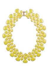 Eye Candy Los Angeles Collar My Neck Statement Necklace Yellow