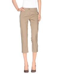 Carla G. Trousers 3 4 Length Trousers Women Beige