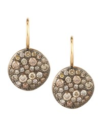 Sabbia Brown Pave Diamond Earrings 0.78 Tcw Pomellato Pink
