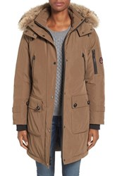 Pendleton Women's 'Jackson' Hooded Down Parka With Genuine Coyote Fur Trim Toffee