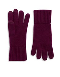 Lord And Taylor Cashmere Tech Gloves Port