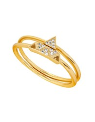 Lucky Brand Goldtone Geometric Double Ring
