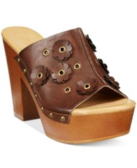 Dolce By Mojo Moxy Janis Wooden Platform Mules Women's Shoes Espresso