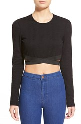 Women's Wayf Textured Long Sleeve Crop Top