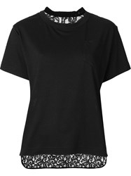 Sacai Lace Back T Shirt Black