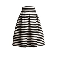 Rumour London Amalfi Striped Midi Skirt Black White
